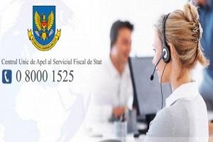 Peste 100 000 de apeluri recepționate de către Centrul Unic de Apel al Serviciului Fiscal de Stat în primele 6 luni ale anului 2020