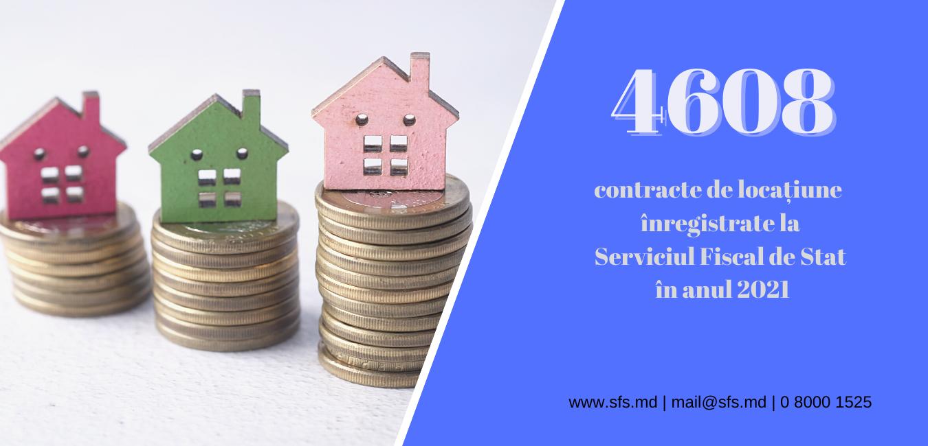 Peste 4,6 mii contracte de locațiune au fost înregistrate la Serviciul Fiscal de Stat de la începutul anului 2021