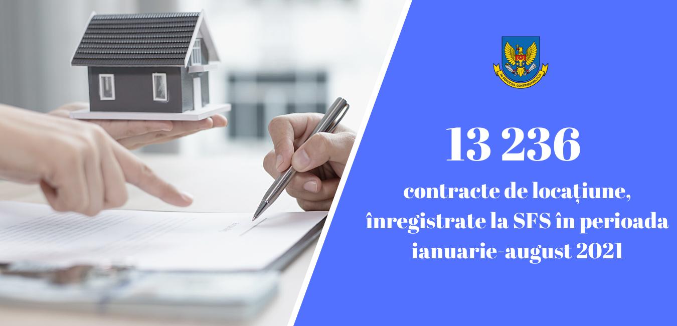 13236 contracte de locațiune, înregistrate la SFS în perioada ianuarie-septembrie 2021